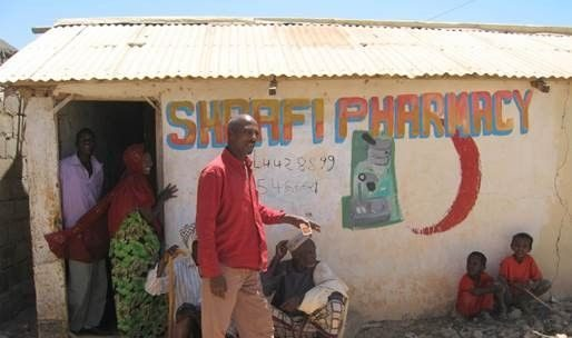 Pharmacy in an African country