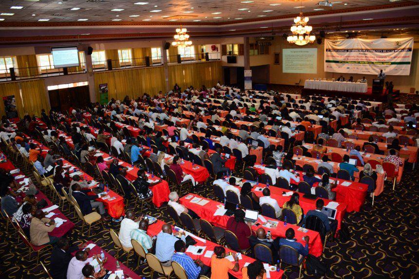 Aerial view of symposium session