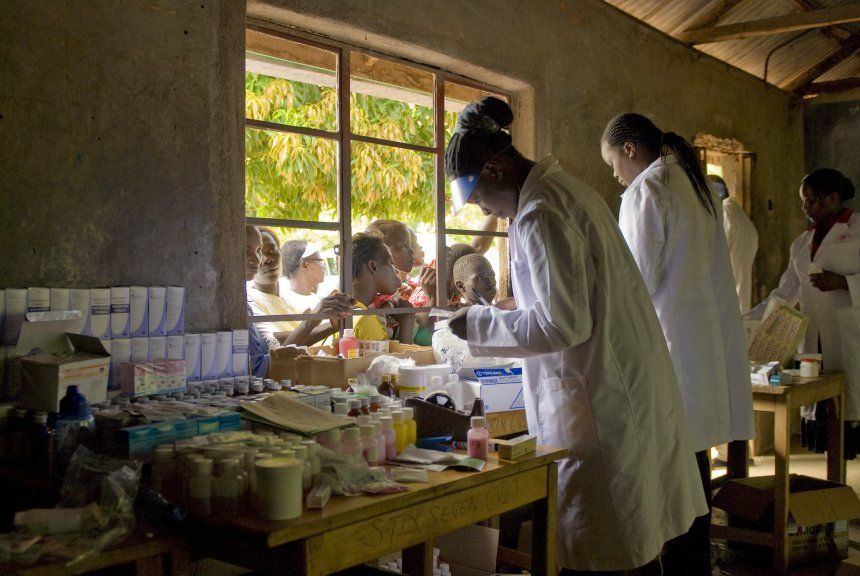 Group of Doctors working in a clinic in Kisumu, Kenya