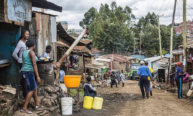 View of a street in an informal settlement
