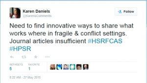 Screenshot of a Tweet from Karen Daniels