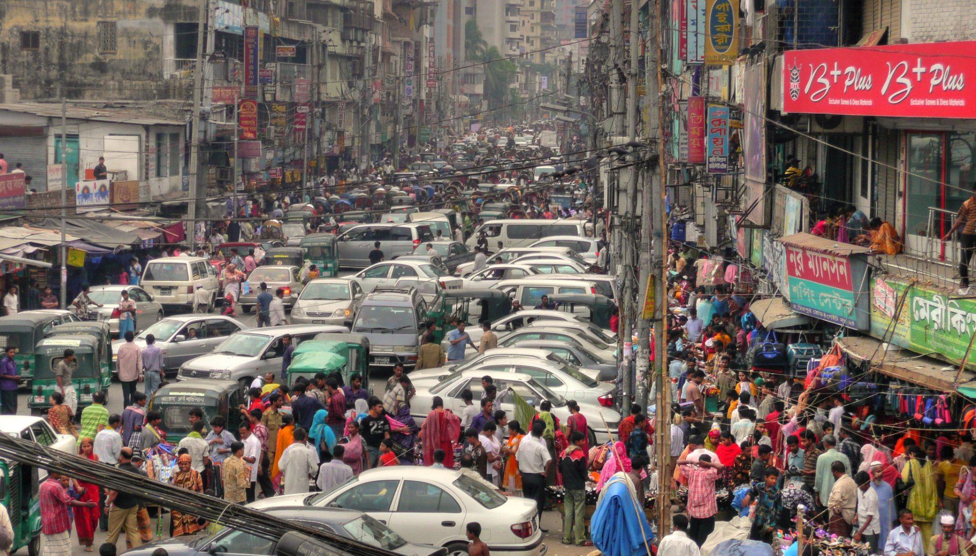 Traffic in Dhaka, Bangladesh