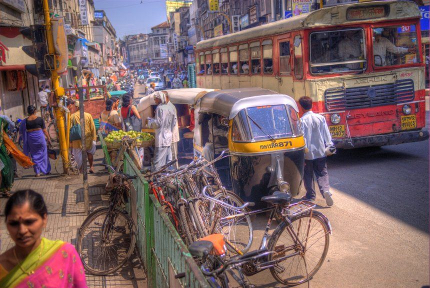 Busy Indian street
