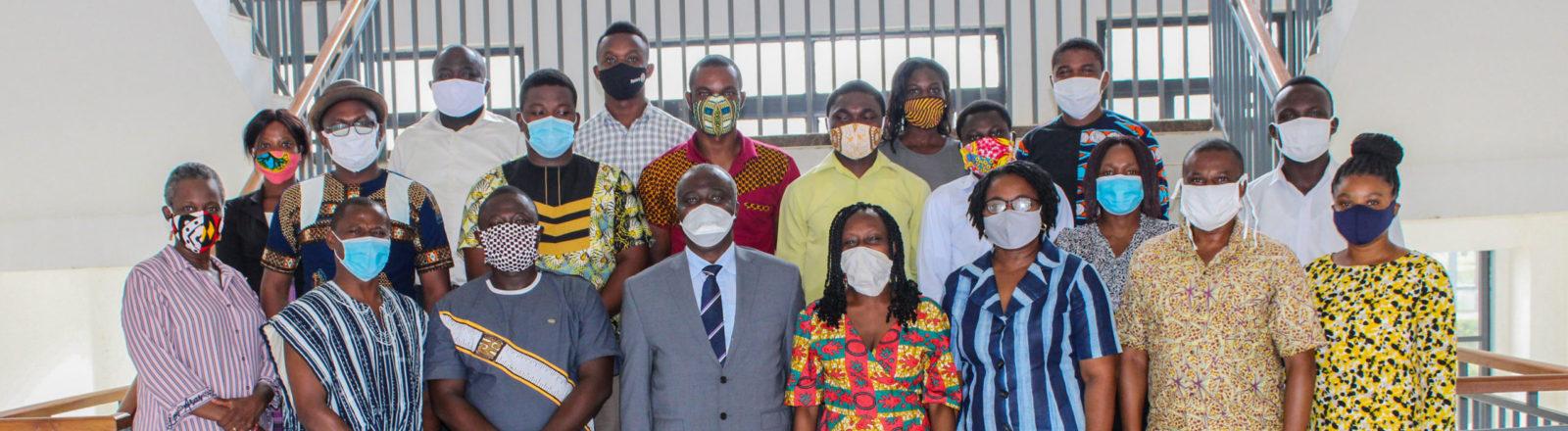 Group photo of the team at UHAS Ghana