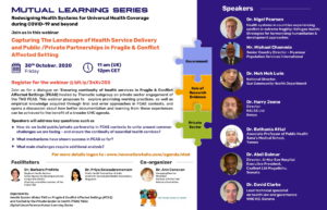 Leaflet with information about the webinar