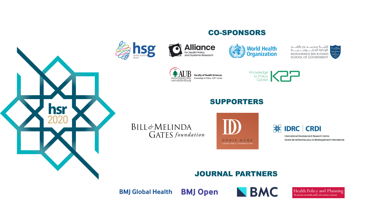 HSR2020 co-sponsors, supporters and partners